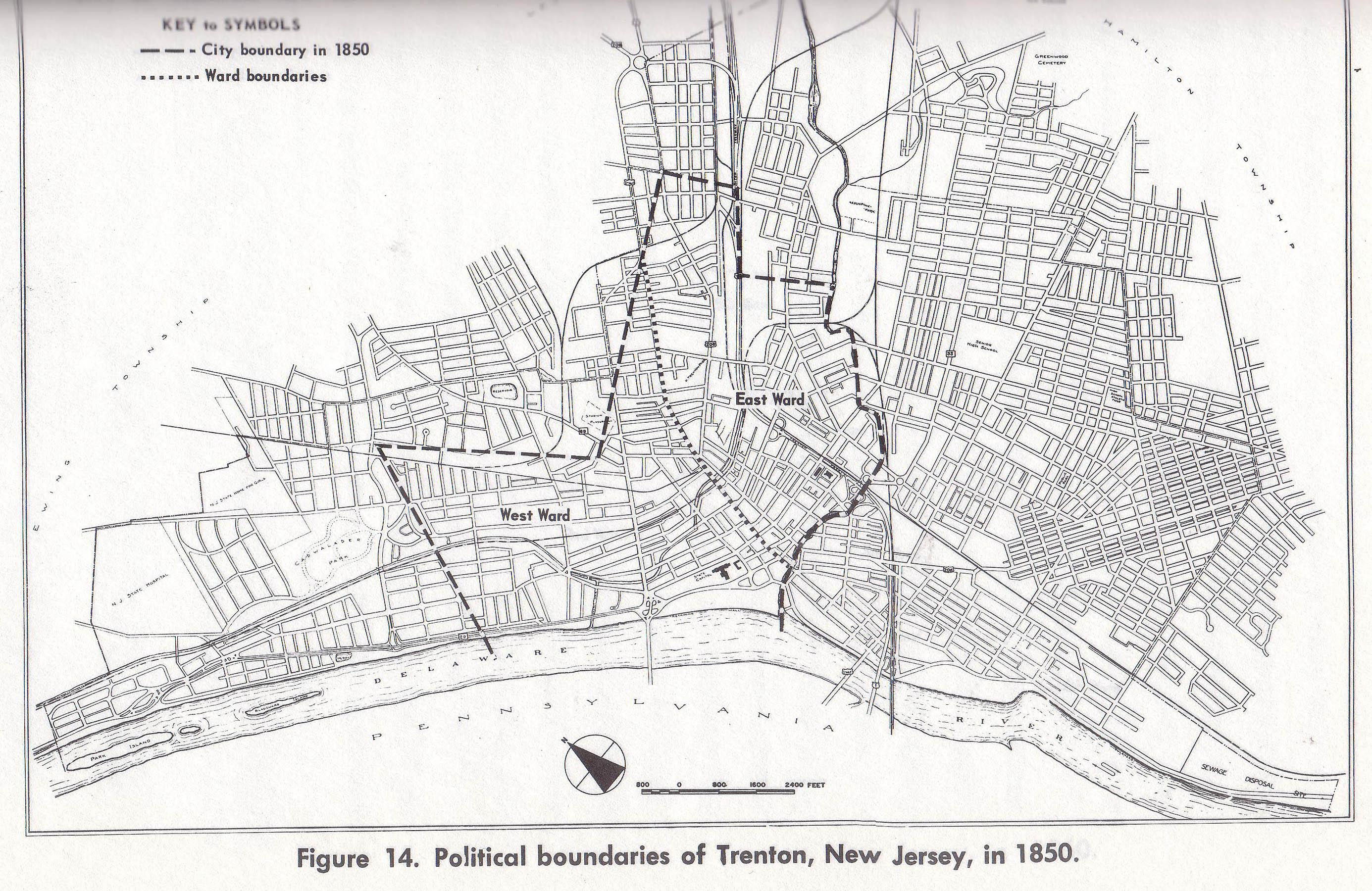 Map Of Trenton Nj Trenton Historical Society, New Jersey Map Of Trenton Nj